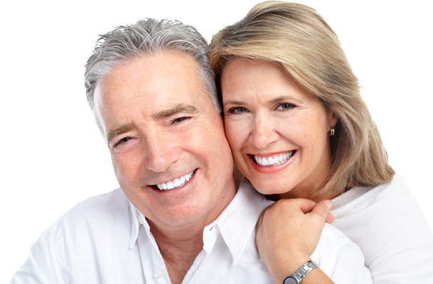 Happy Patients With Dental Implants
