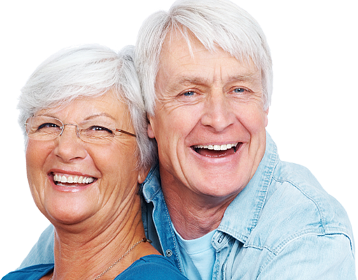 Happy Patients With Dentures